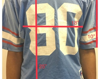 Houston Oilers RARE Vintage Russell Athletic #80 Jersey M