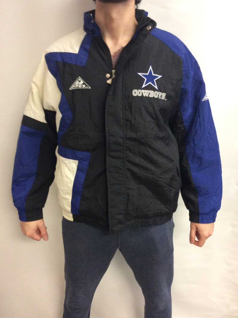 brand new 0e70d 5cd22 Vintage 90's Dallas Cowboys Football Puffer/Puffy Apex-Pro Line Jacket  (Size L)