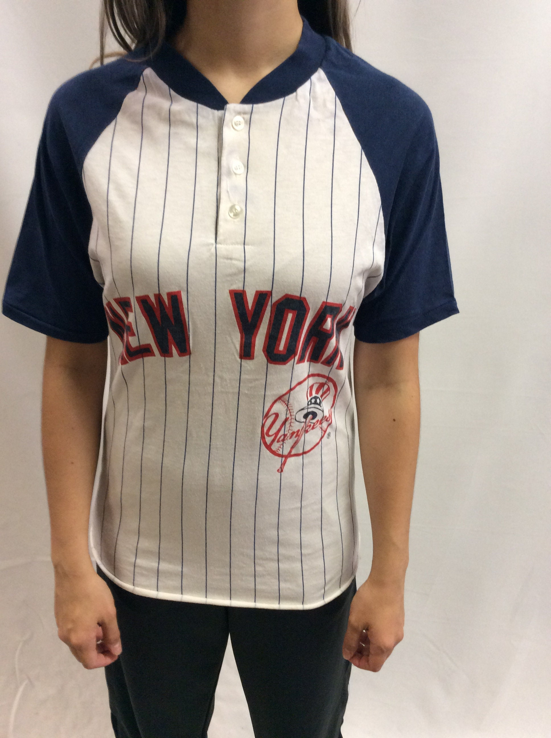 Vintage New York Yankees Pinstripe T Shirt Etsy