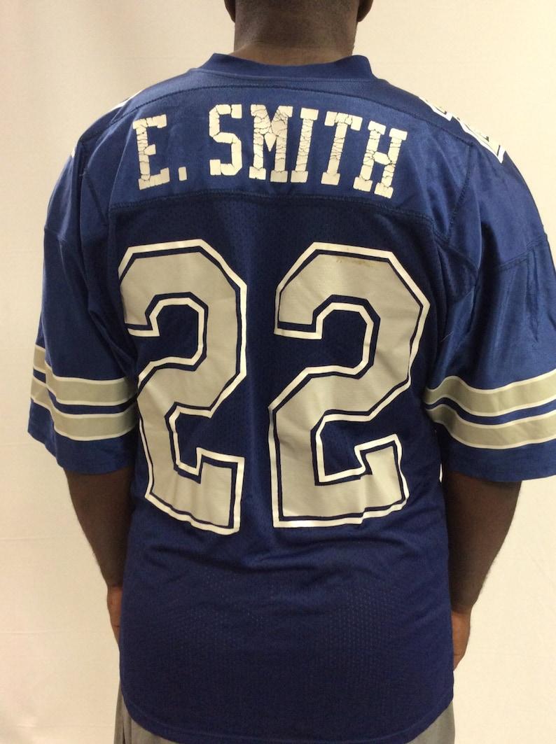 3245e3edd1d Vintage 90's Emmitt Smith 22 Dallas Cowboys Blue Russel | Etsy