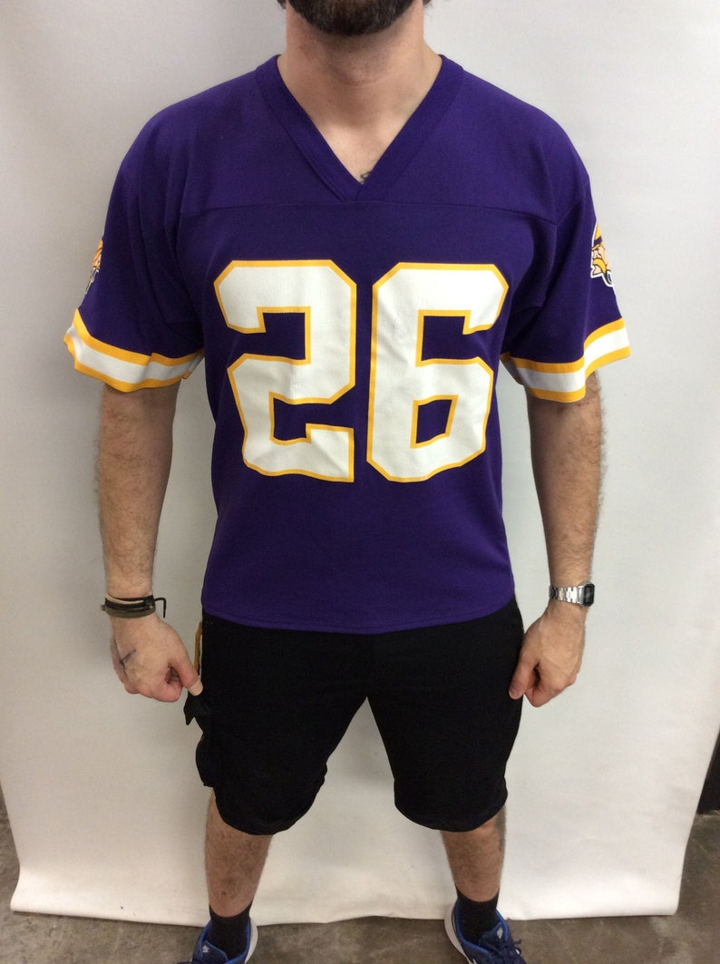 finest selection a3396 b0dac Vintage 90's Minnesota Vikings #26 Robert Smith Purple & Gold Football  Jersey (Size M)