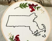 State Outline Embroidery ...