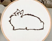Rabbit Outline Embroidery...