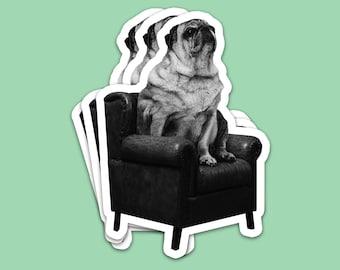 Gentleman's Room - Dog - Bubble-free sticker (1 Sticker)