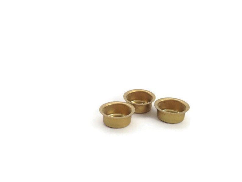 Brass Candle Holder  Waldorf Birthday Ring  Candle Drip Cups image 0
