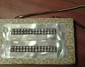 rhinestone mother of pearl compact carryall compact mop evening bag clutch cigarette case