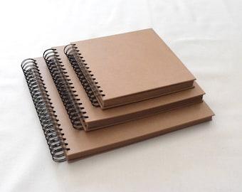 Kraft Hardcover Guest Book, Spiral Bound, Scrapbook, Photo Booth Album, Weddings, Engagements