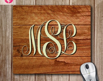 Monogram Mouse Pad, Personalized Mouse Pad, Custom Mouse Pad, Monogram Gift, Desk Decor, Mousepads
