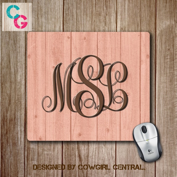 monogram mouse pad custom mouse pad personalized mousepad etsy