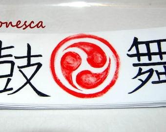 Hachimaki o bandana japonesa especiales para Taiko, grupos de tambores.