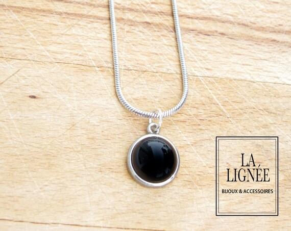 Pewter pendant, women jewelry stainless steel necklace, jewelry pendant fused glass, fused glass pendant, minimalist jewellery
