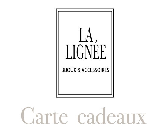 Gift card for La Lignee boutique only.