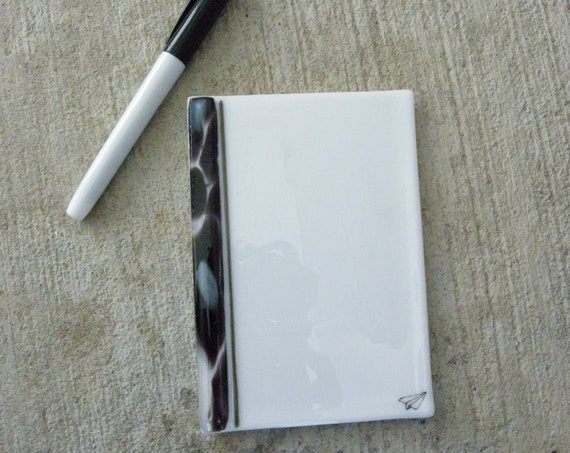 Dry erase fused glass memo  , fused glass white board, note pad memo board , board