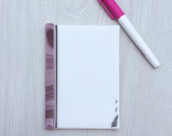 Dry erase fused glass memo feather , fused glass white board, note pad memo board , board