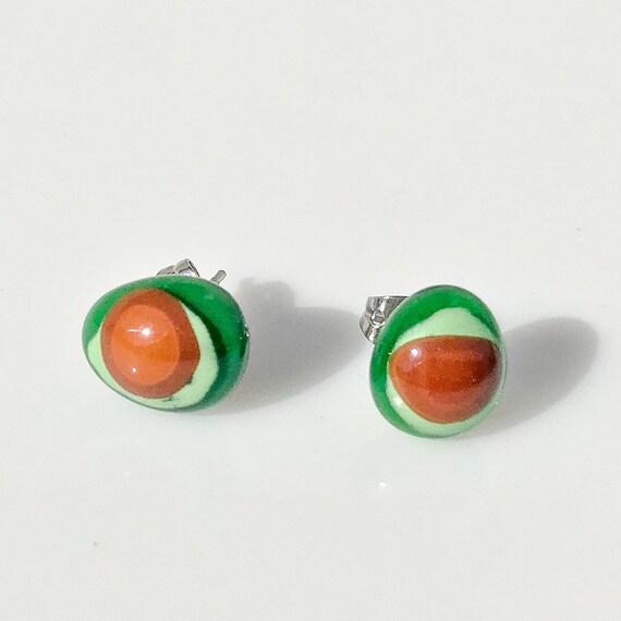 little cute strawberry stud earrings, small earrings studs, small stud earrings 6mm