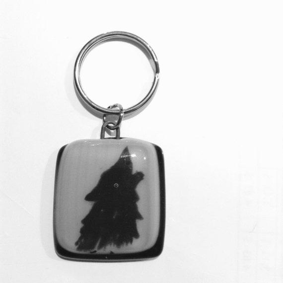 Men Keychains , handmade fused glass , keyholder ,keyring