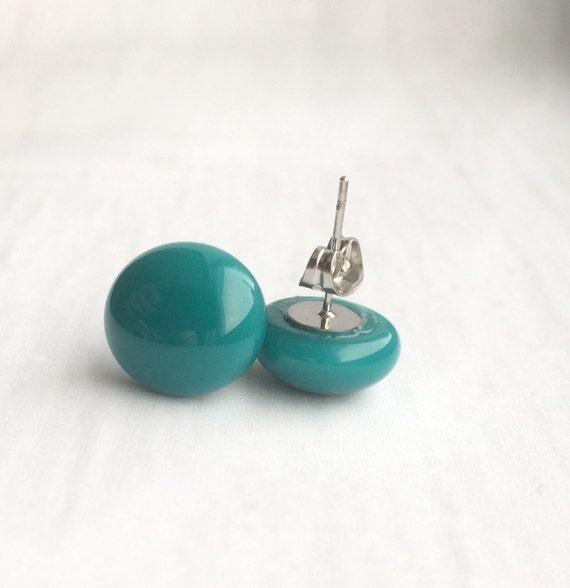 Sale,Teal stud earrings, small earrings studs, small stud earrings, teen jewelry