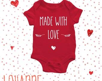 Baby Bodysuit - Made with Love - Body Bébé  - Baby Cloth - Fait avec Amour - Personnalisable