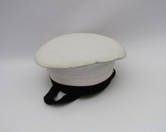 Vintage Greek navy hat, vintage sailor's hat, retro navy hat, sailor's costume hat, collectible hat, Greek sailor hat, retro sailor hat