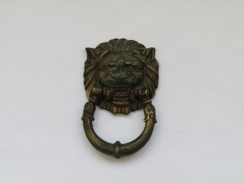 Solid Brass Front Door Lion Knocker Round Lion Head Door Knocker Old Lion Door Knocker Antique Lion Door Knocker Lion Door Knocker Brass