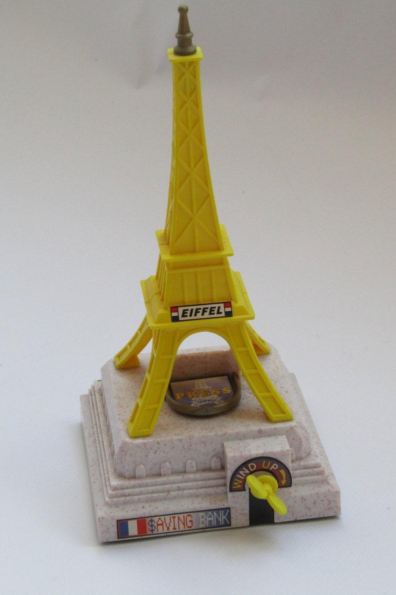 eiffel tower safe box money box mechanism Eiffel tower decor eiffel tower vintage Vintage money box Eiffel tower money box