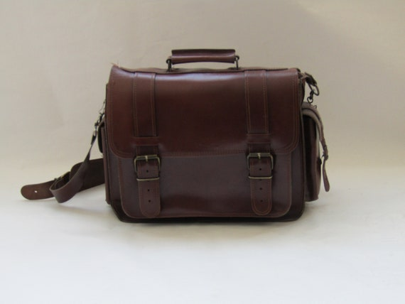 vintage leather handbag, leather handbag, industri