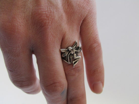 vintage sterling silver fairy ring, vintage fairy