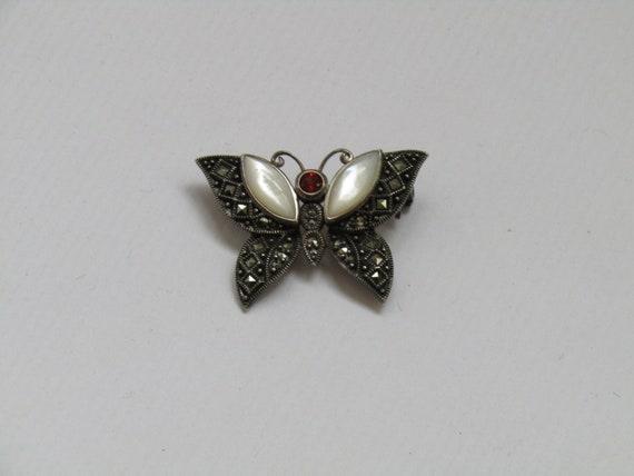 sterling silver butterfly brooch - butterfly Brooc