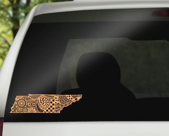Tennessee Native Decal Vinyl Sticker Yeti Decal Personalized Decal Tumbler Cricut Vinyl Car Monogram Decal Monogram Decal
