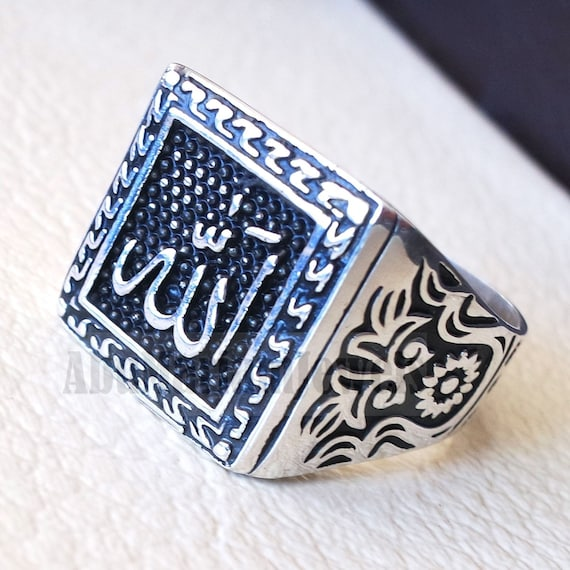 islamic turkish jewelry 925 Sterling Silver no stone Mens NEW Ring ALL SİZE us