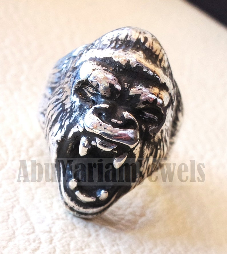 Falcon Jewelry 925 Sterling Silver Men Lion Ring Lion Ring Free Express Shipping