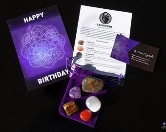 CAPRICORN ZODIAC CRYSTALS Set - Zodiac Crystal Kit, Healing Crystal Set, Capricorn Star Sign Gift