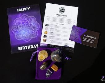 SAGITTARIUS ZODIAC CRYSTALS Set - Zodiac Crystal Kit, Healing Crystal Set, Sagittarius Star Sign Gift