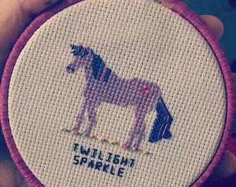 Twilight sparkle parody cross stitch pattern