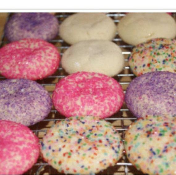 Christmas In July Cookies Sprinkle Cookies Sugar Cookies Cookie Gift Cookies Homemade Baked Goods Christmas Cookies Edible Gift