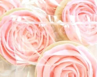 Rosette Cookies - Gift for Her, Cookies, Housewarming Gift, Sugar Cookies, Decorated Cookies, Roses, Rose Cookies, Flower Cookies, Edible