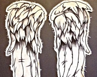Angel Wing Patches - Daryl Dixon