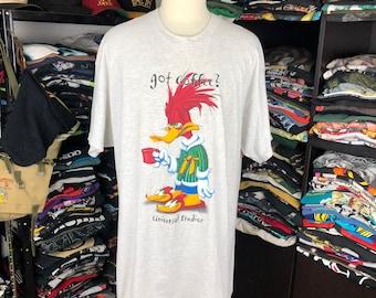 1e6cfc2d1 Vintage Woody Woodpecker Cartoon Tshirt Universal Studios