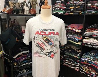 69761e4212fe98 Vintage 90s Daytona Tshirt Comptech Acura