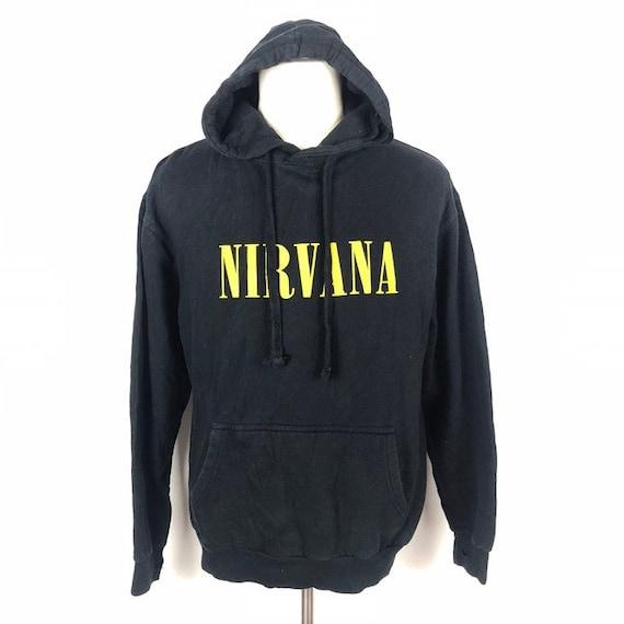 Vintage Nirvana Smiley Face Logo Band Hoodie