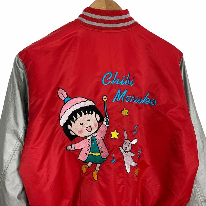 Vintage Chibi Maruko Chan Japan Cartoon Jacket Embroidered Graphic