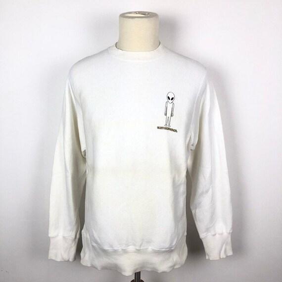 Vintage Alien Workshop Sweatshirt Embroidered Logo