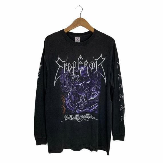 Vintage 90s Emperor Band Tshirt Black Metal