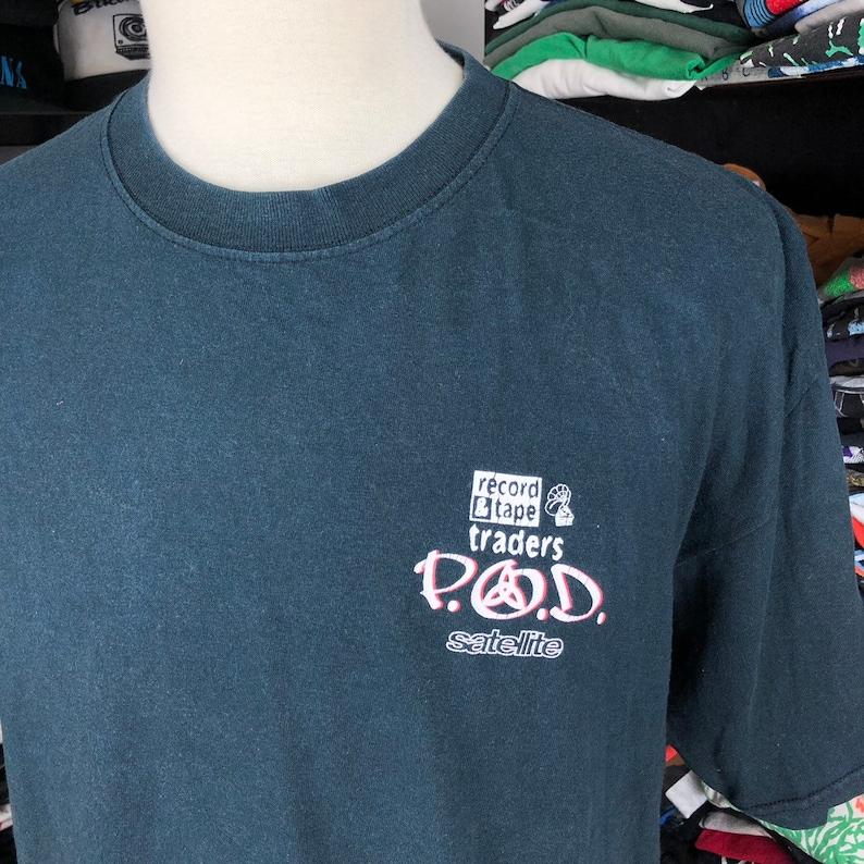 Vintage 2001 Pod Satellite Promo Tshirt Payable On Death Nu Metal Rap Metal