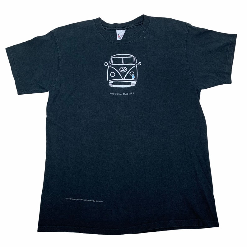 Rare Vintage 1995 Jerry Garcia Grateful Dead Memorial Tshirt By Volkswagen