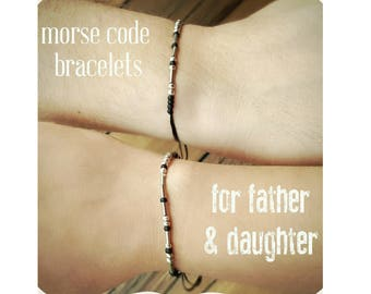 Dad Matching Bracelets father's day gift from Daughter to father gift Father Daughter Morse Code Bracelets Gift Dad Gift for Father's Day
