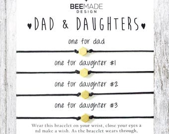 Fathers Day Gift For Dad From Daughters Birthday Father And 3 Daughter Jewelry