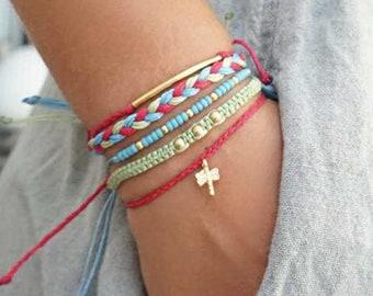 Easter Jewelry For Tween Girl Boho Bracelet Set Macrame Bracelets Gift Girlfriend Teen Birthday Women Daughter