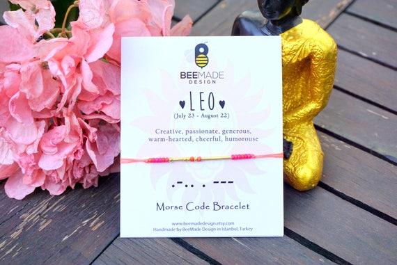 LEO Bracelet For Best Friend Birthday Gift Women Leo Star