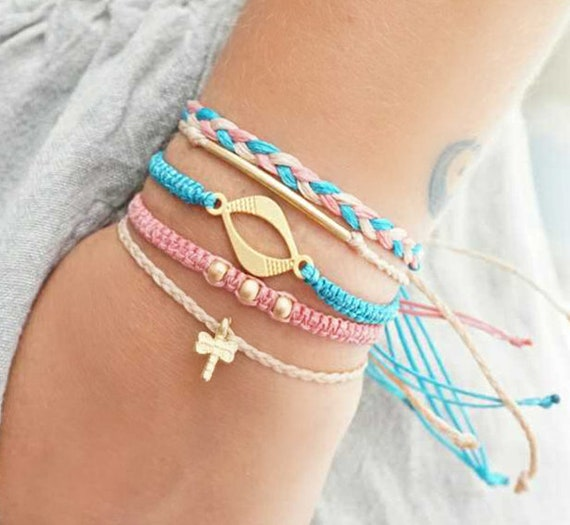 Boho Bracelet Set Macrame Bracelets Teen Girl Valentines Day Etsy